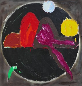 John Hoyland ,                                                                        Luck of the Sailor,                                                                           1985, Oil on Canvas, 60 x 56 ins (152.5 x 142.5 cm)