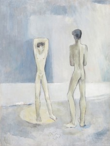 Keith Vaughan, Two Nudes, C. 1936, Oil on Board, 56 x 41 cms