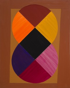 Terry Frost, Sun Double, 1979, Acrylic and collage on canvas, 60 x 48 inches