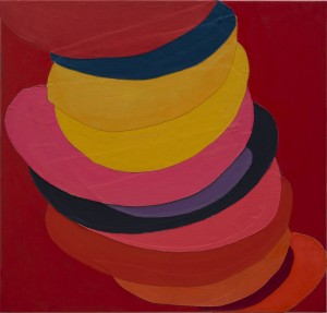 Terry Frost, Suspended Colour Collage, 1968-70, Acrylic and collage on canvas, 40 x 42 inches