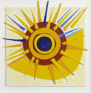 Terry Frost, Yellow Sunburst, c. 1998, Oil Pastel on Paper, 10 x 10 inches