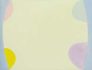 Terry Frost,                 Yellow and Purple Spring, 1971, Acrylic on canvas, 36 x 47 inches,