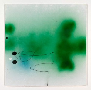 Victor Pasmore Abstract in Green, 1992-95, Oil, Spray paint on Panel, 35.5 x 39.25 ins (90 x 100 cm)
