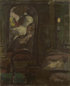 Walter Sickert, Camden Town Interior – The Looking Glass, 1906, Oil on Canvas, 51 x 41 cms (20 x 16.1 inches)