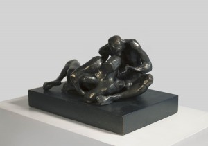 Michael Ayrton Lovers 1969 Bronze  Edition 8 of 9 H: 7.5 x W: 13.25 x D: 9.5 inches