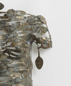 Freddy Tsimba,  Forme n°13003 (Detail), 2014, Cuilleres soudées, recuperation (Welded spoons, recovery) 88 x 51 x 19 cms
