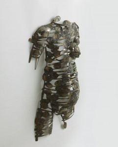 Freddy Tsimba,  Forme n°13003, 2014, Cuilleres soudées, recuperation (Welded spoons, recovery) 88 x 51 x 19 cms
