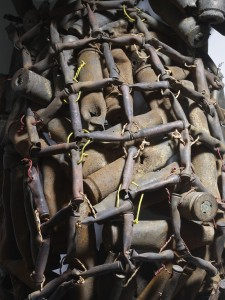 Freddy Tsimba, Forme (Detail), 2003, Douilles soudées, recuperation (Sockets welded, recovery) 83 x 49 x 36 cms