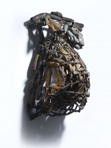 Freddy Tsimba, Forme, 2003, Douilles soudées, recuperation (Sockets welded, recovery) 83 x 49 x 36 cms