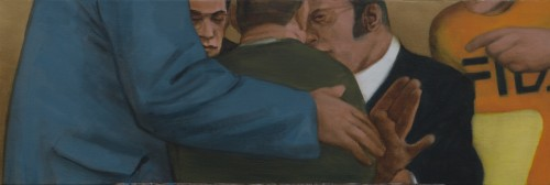 Ray Richardson, Do What You Want Then, 2018, oil on linen, 10 x 30 inches