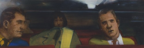 Ray Richardson, Said You Ain't Done What You Said You Would, 2018, oil on linen, 10 x 30 inches