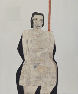 Girl with Black Hair (2014), Paper and Graphite on Wood, 72.4 x 61cm