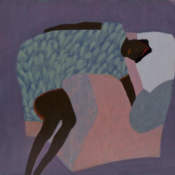Sleeping Figure (2015), Oil on Wood, 42 x 61cm