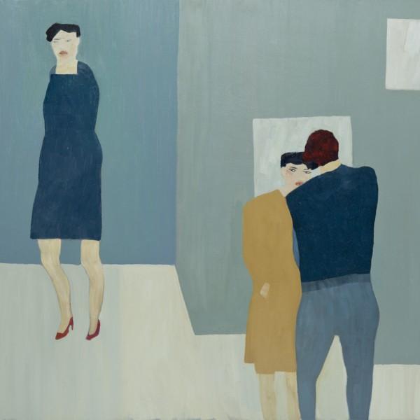 Three Figures II (2015), Oil on Wood, 62.3 x 76.2cm