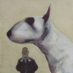 Chaz and Dave (2014), Oil on Linen, 35.5 x 35.5cm