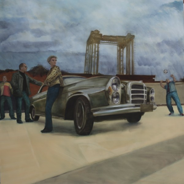 From the Streets of South East London (2012), Oil on Linen, 112 x 112cm