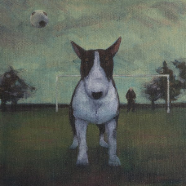 Headers and Volleys (2014), Oil on Linen, 35.5 x 35.5cm