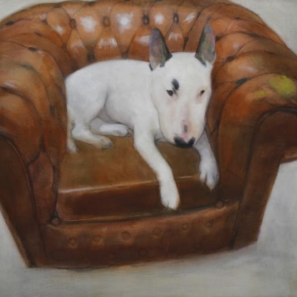 Londons Topdog (2011/12), Oil on Linen, 56 x 61cm