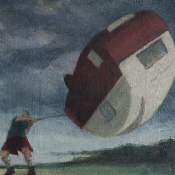 Summer Holiday (2014), Oil on Board, 20.5 x 20.5cm
