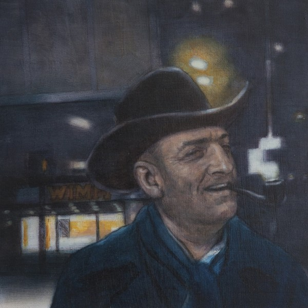 Tescotown (2014), Oil on Board, 30.5 x 30.5cm