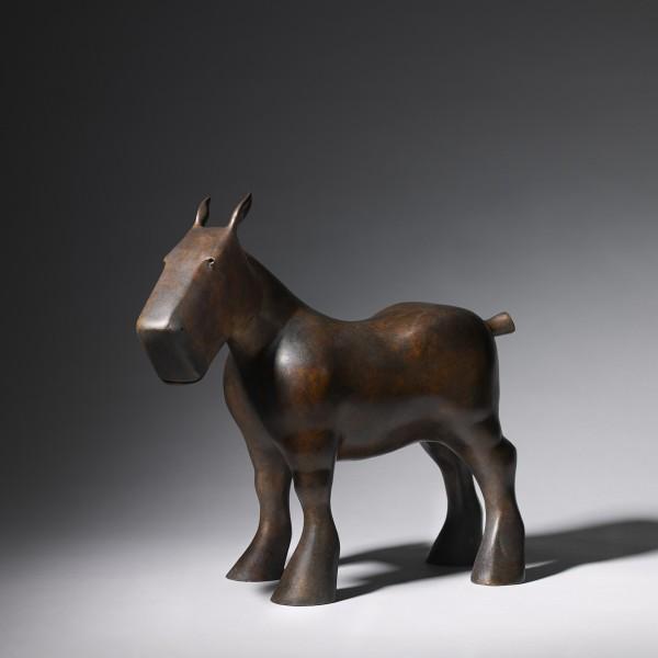 Draft Horse (2014), Bronze (Green Patina), Edition of 9, H36 x L40 x W14cm