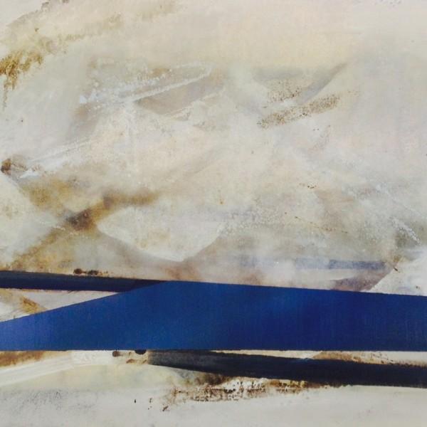 Blue Fold, Oil on Canvas, 40 x 51cm