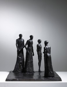 Group (1980), Bronze, Edition 2 of 6, H27.9 x W34.3 x D34.3cm