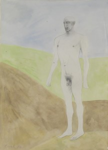 Standing Man (1976), Pencil and Wash on Paper, 77.5 x 58.5cm