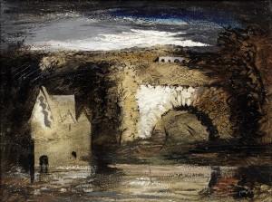 Park Place (1944), Oil on Canvas laid on Panel, 45.1 x 61cm