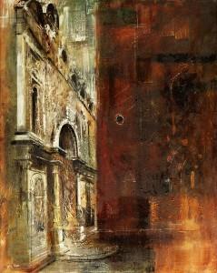 The Scuola di San Marco and S.S. Giovanni e Paolo (1960), Oil and Wax on Canvas, 152.4 x 122cm