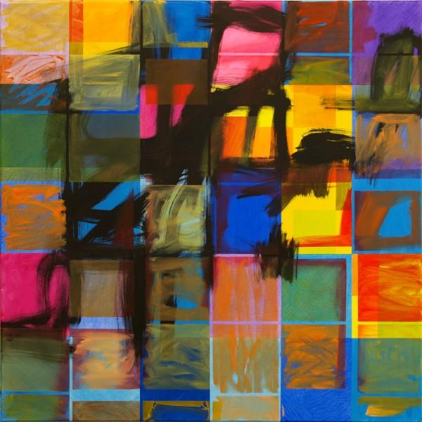Fisherman's God (2014), Mixed Media on Canvas, 91.5 x 91.5cm