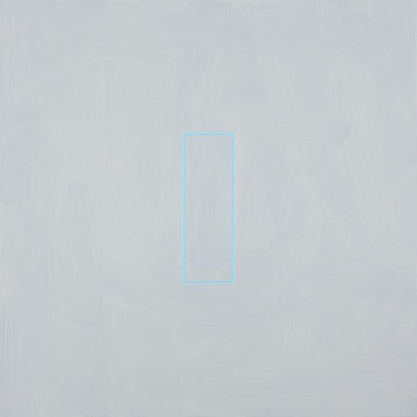 Pale Brilliant Blue (2014), Acrylic on Aluminium, 84 x 84cm