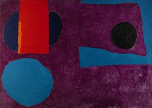 Big Violet with Red & Blue (1965), Oil on Canvas, 152 x 213cm