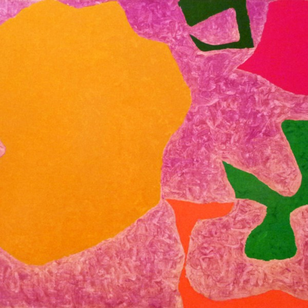 Five in Scribbled Violet (1971-73), Oil on Canvas, 76 x 101cm