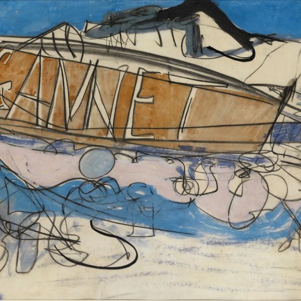 Gannet (1964), Watercolour, 55 x75cm