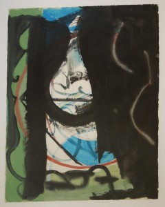 Untitled: Cliff Face (1964), Mixed Media on Paper, 76.2 x 55.88cm