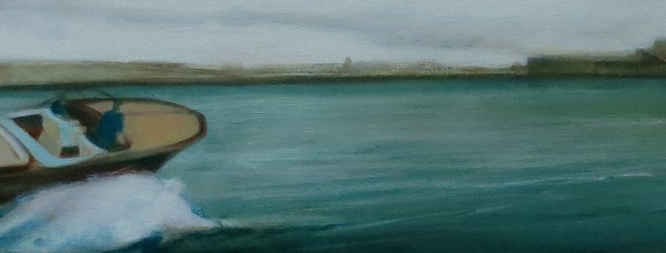 London Soul (2015), Oil on Linen, 20.3 x 101.6cm