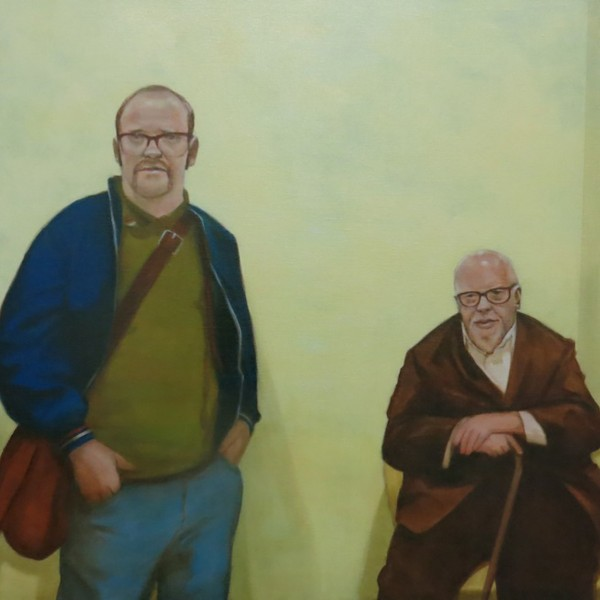 The Popfather and the Funk (2015), Oil on Linen, 76.2 x 76.2cm