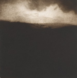 Landscape near Bath (2014), Mezzotint, Edition of 30, 25 x 25cm
