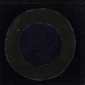 Black Circle (c.1975-79), Acrylic on Canvas, 25.5 x 25.5cm