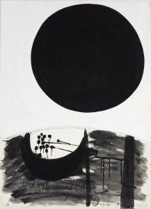 Black Moon and Olives in my Saddle Bag (1975), Acrylic and Gouache on Paper, 71 x 51cm
