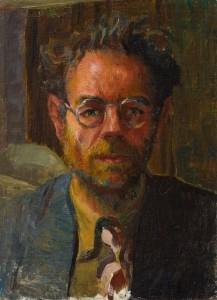 Self Portrait (c.1945-48), Oil on Linen, 35.6 x 26cm