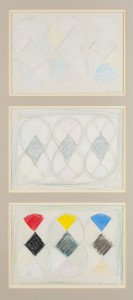 Three Drawings for White Out (1981), Pencil and Pastel on Paper, Each one is 19 x 27cm