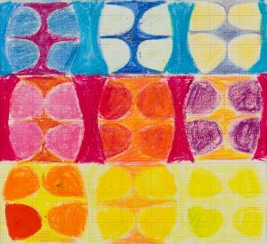 Untitled (Study 10) (c.1960), Oil Pastel on Paper, 20 x 25cm