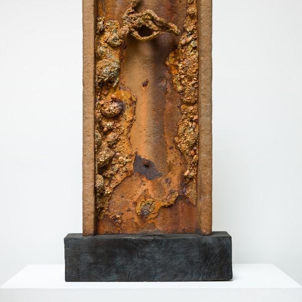 The Fallen (2015), Unique Bronze, Found Steel, 89 x 43 x 9cm (excluding base)