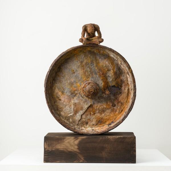 The Grace of God (2015), Unique Bronze, Found Steel, 77 x 65 x 12cm