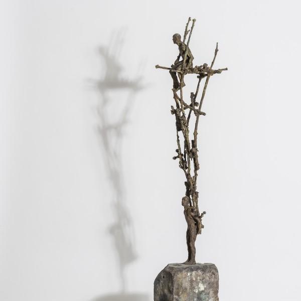 Two As One (2014), Unique Bronze, 84 x 10 x 16cm