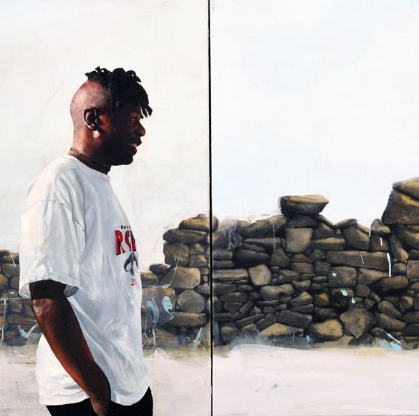 Les Courtals (2015), Oil on Canvas, 100 x 200cm