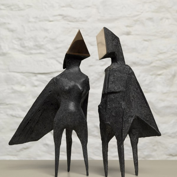 Maquette III Two Winged Figures (1973), Bronze, Edition 2 of 6, H26cm, 670S