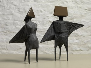 Maquette IV Two Winged Figures (1973), Bronze, Edition 2 of 6, H29cm, 671S